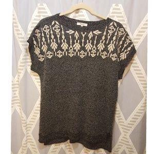 Madewell Linen Blend Short Sleeve Sweater